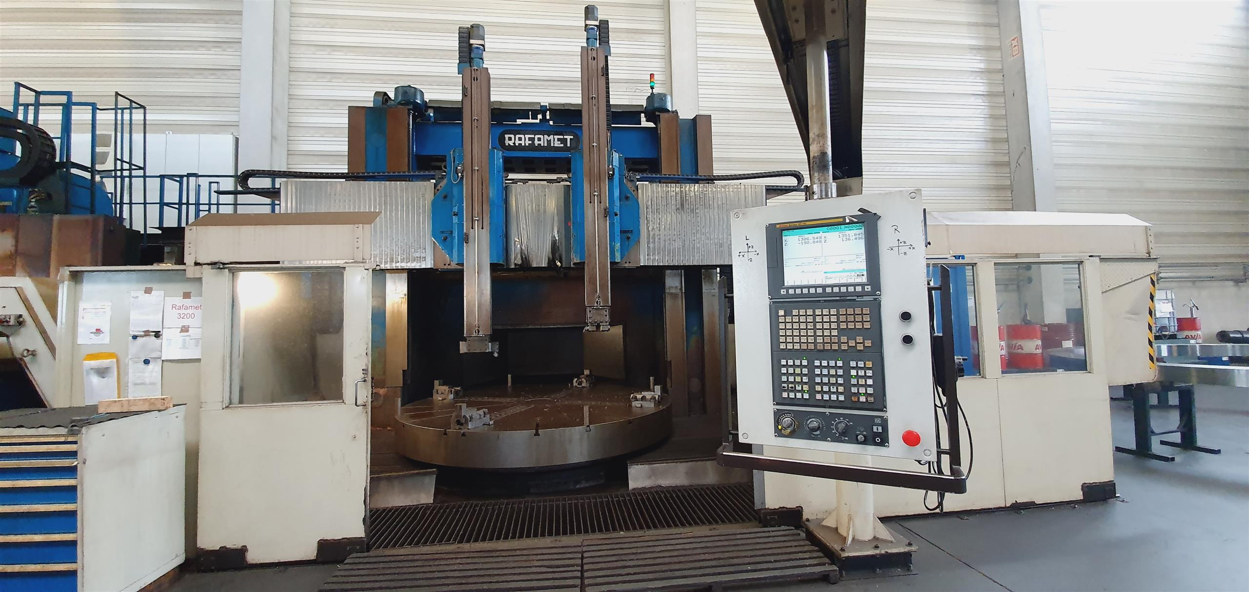 CNC VTL Rafament KCF 320 with extra height
